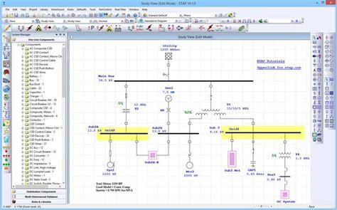 single line diagram software one line diagram etap 14 sm a