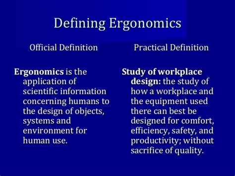 Comfort Object Definition by Intro To Ergonomics 2016