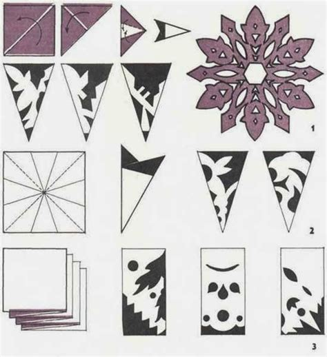Make Paper Snowflakes Patterns - ella en louis diy paper snowflakes