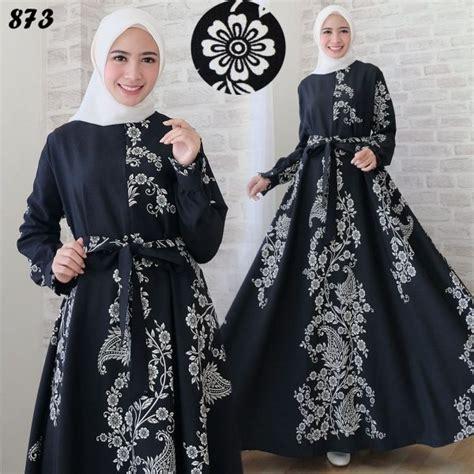 Revalina Dress Maxi Motif Katun Jepang Busui Ori Naura Dress maxi dress motif etnik c873