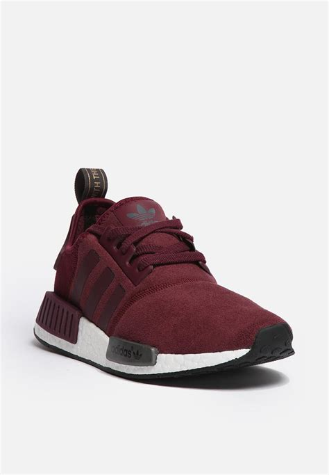 Adidas Nmd R1 Maroon Suede S75231 Authentic Original adidas originals nmd r1 w s75231 maroon solid grey adidas originals sneakers superbalist