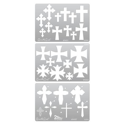 quikart metal clay template set crosses