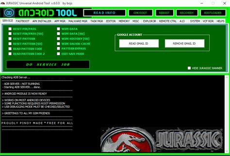 universal android reset wipe tool jurassic universal android tool v 6 0 0