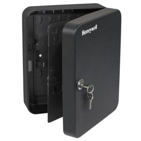 honeywell key lock steel security box 6106 the home depot