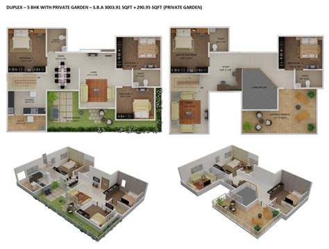 5 bhk duplex floor plan floor plans duplex house plans