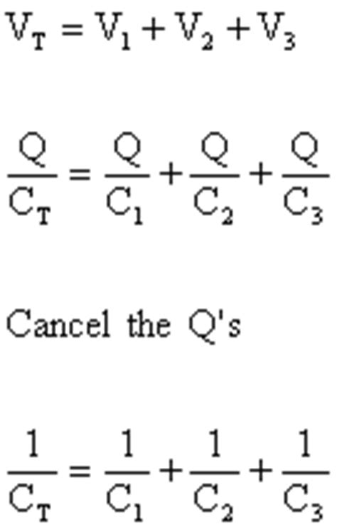 capacitors in series and parallel equations capacitors in series and parallel s cool the revision website