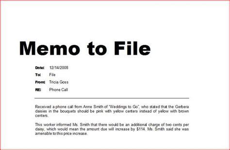 Memorandum Ejemplo Imagui Note To File Template Personnel File