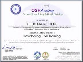 Health And Safety Certificate Template by Education Certificate Occupational Education Certificate