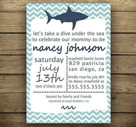 baby shark invitation printable nautical themed invitation for baby shower
