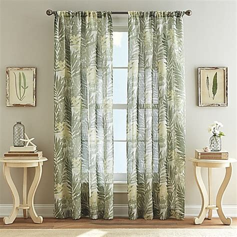palm curtains west palm poletop curtain in leaf bed bath beyond