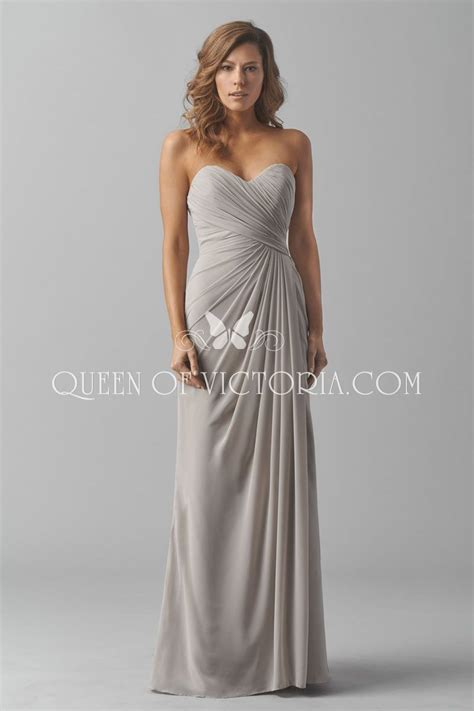 strapless sweetheart charming long chiffon bridesmaid