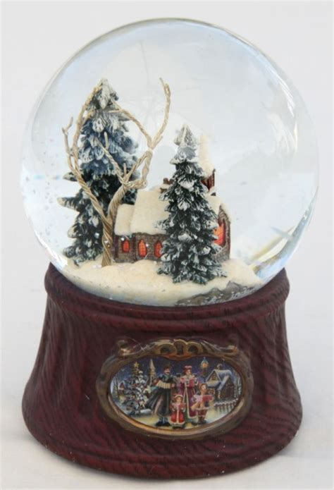 winter scene snow globes musical snow globe winter church snow