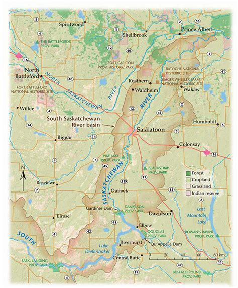 map of south canada the south saskatchewan river runs canadian geographic