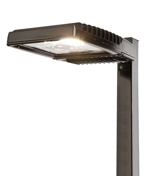 Led Exterior Lighting Fixtures Ge S Scalable Led Area Lights Bring Lots Of Options For Parking Lots Of All Sizes Ge Lighting