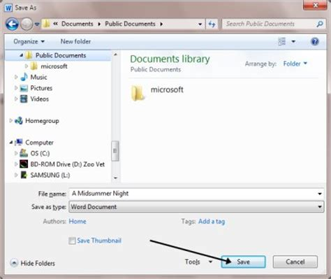 Save As Word Document