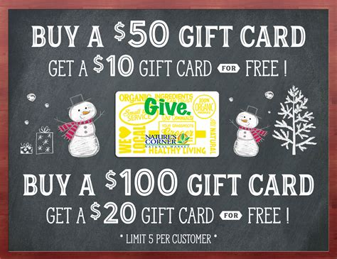 Holiday Gift Cards - starts tomorrow holiday gift card sale nature s corner natural market