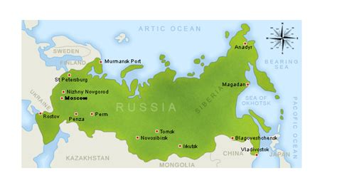 russia map with major cities s world goegraphy december 2010