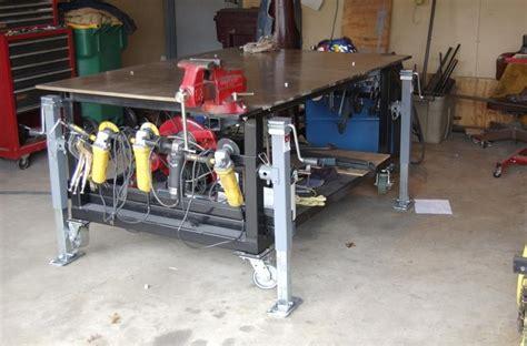 diy welding bench complete diy welding table and cart ideas 50 designs