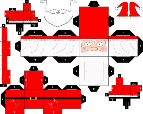 Papercraft Santa - santa claus cubeecraft by shonadh01 on deviantart