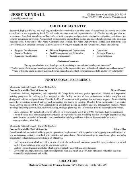 Usa Job Resume Builder by Security Resume Examples And Samples Security Guards
