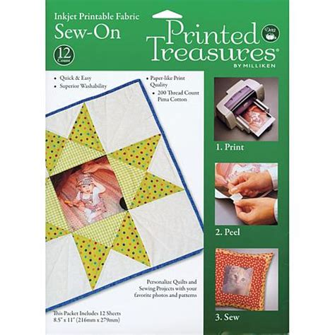 dritz printable fabric sheets milliken printed treasures sew on inkjet fabric sheets