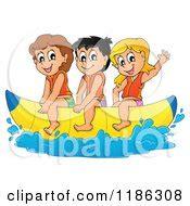 banana boat ride cartoon royalty free rf boat clipart illustrations vector
