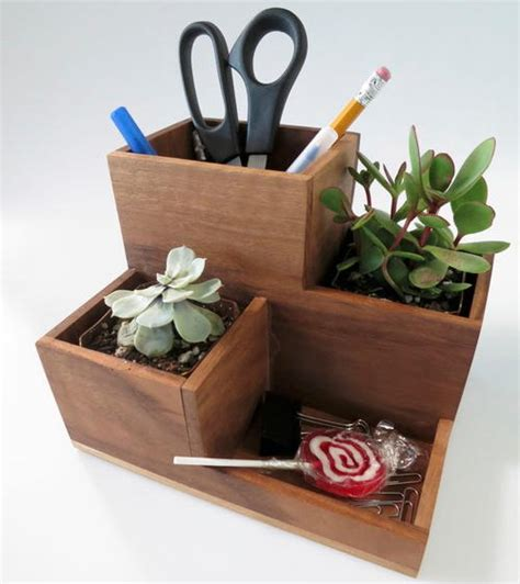 diy desk organizers diy desk organizer and succulent planter diyideacenter