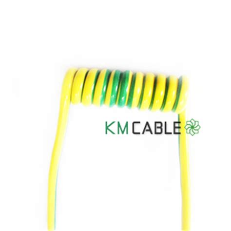 yellow green earth cable ground wire for electrical door