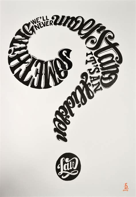 typography questions beautiful words creatively arranged into striking images designtaxi