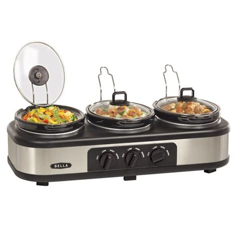bella triple crock pot buffet server inside my kitchen