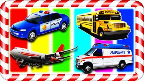 cars trucks school car ambulance airplane vehicles for
