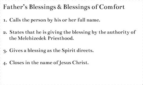Father S Blessings Blessings Of Comfort Mormon Basics