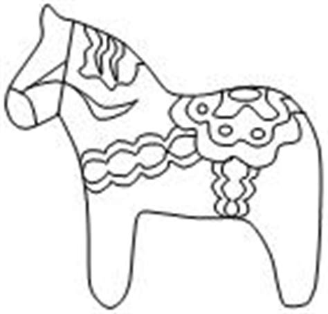 dala horse coloring page 171 free coloring pages