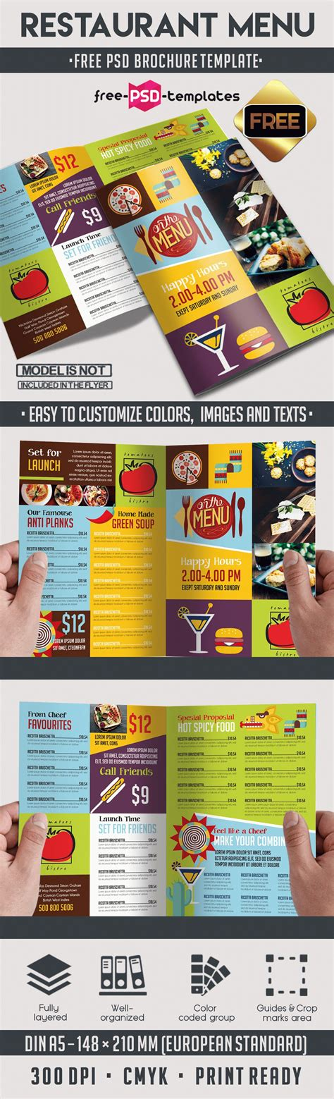 Menu Brochure Template Free by Menu Free Psd Bi Fold Psd Brochure Template Free Psd
