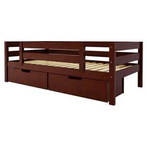 Platform Bed Guard Rail Maxwood Furniture Jackpot Bed With Back And Front