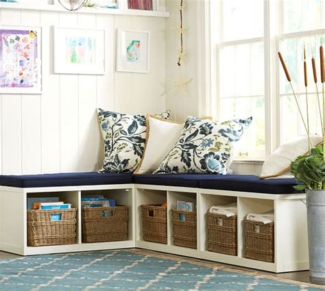 Banquettes With Storage by Modular Banquette Set Pottery Barn