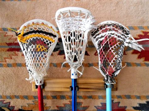 Handmade Lacrosse Sticks - 3stick handmade lacrosse stick holder by laxrax on etsy