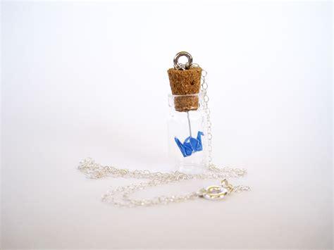 Floating Origami - floating origami crane necklace graceincrease custom