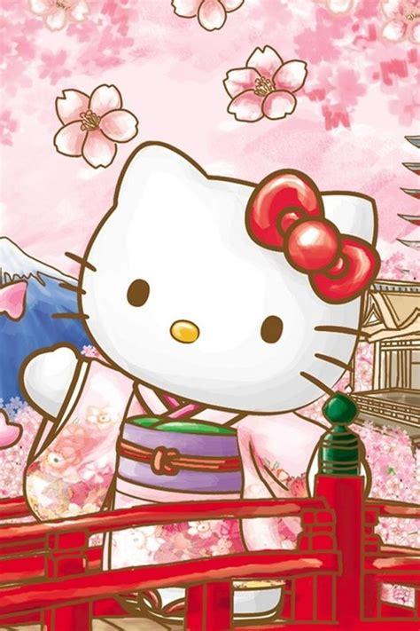 hello kitty wallpaper japan hello kitty with sakura blossoms hello kitty and friends