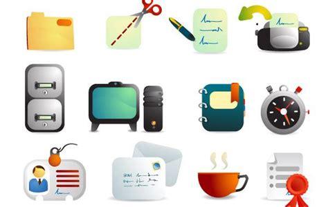 icones de bureau fournitures de bureau vecteur ic 244 nes t 233 l 233 charger