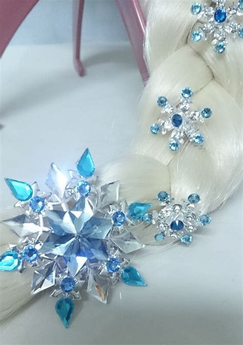 Elsa Button Hairclips learn to make frozen elsa braid hair for 2015 fashion