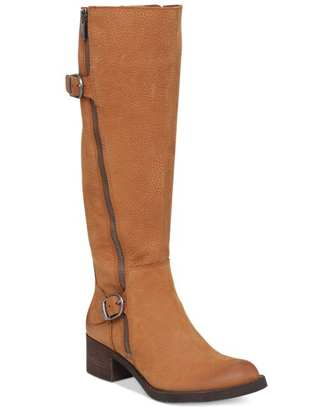 lucky brand s hoxy shaft boots in brown lyst