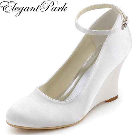 white high heel wedges wedges white ivory high heel ankle pumps
