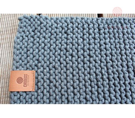 knitted rugs knitted rug b119 grey catnessdesign
