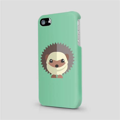 Iphone 5 5s Animal Ring hedgehog animal draw lovely gift cover for