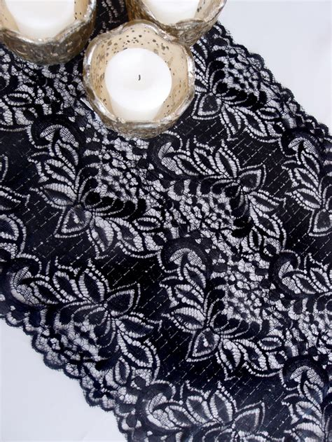 vintage style table runners vintage black lace style no 1 table runner 12 x 108 ebay