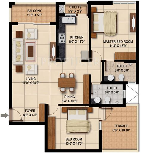 1400 Sq Ft by 1400 Sq Ft 2 Bhk 2t Apartment For Sale In Sapthagiri