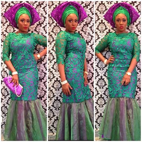 latest nigerian styles with cod lace wedding glam 15 lace asoebi trend