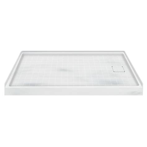 60 Shower Base by 60 X 32 Solid Surface Shower Base Right Drain In