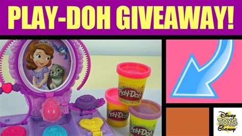 stuff play doh giveaway contest  open playdoh play doh disney princess sofia